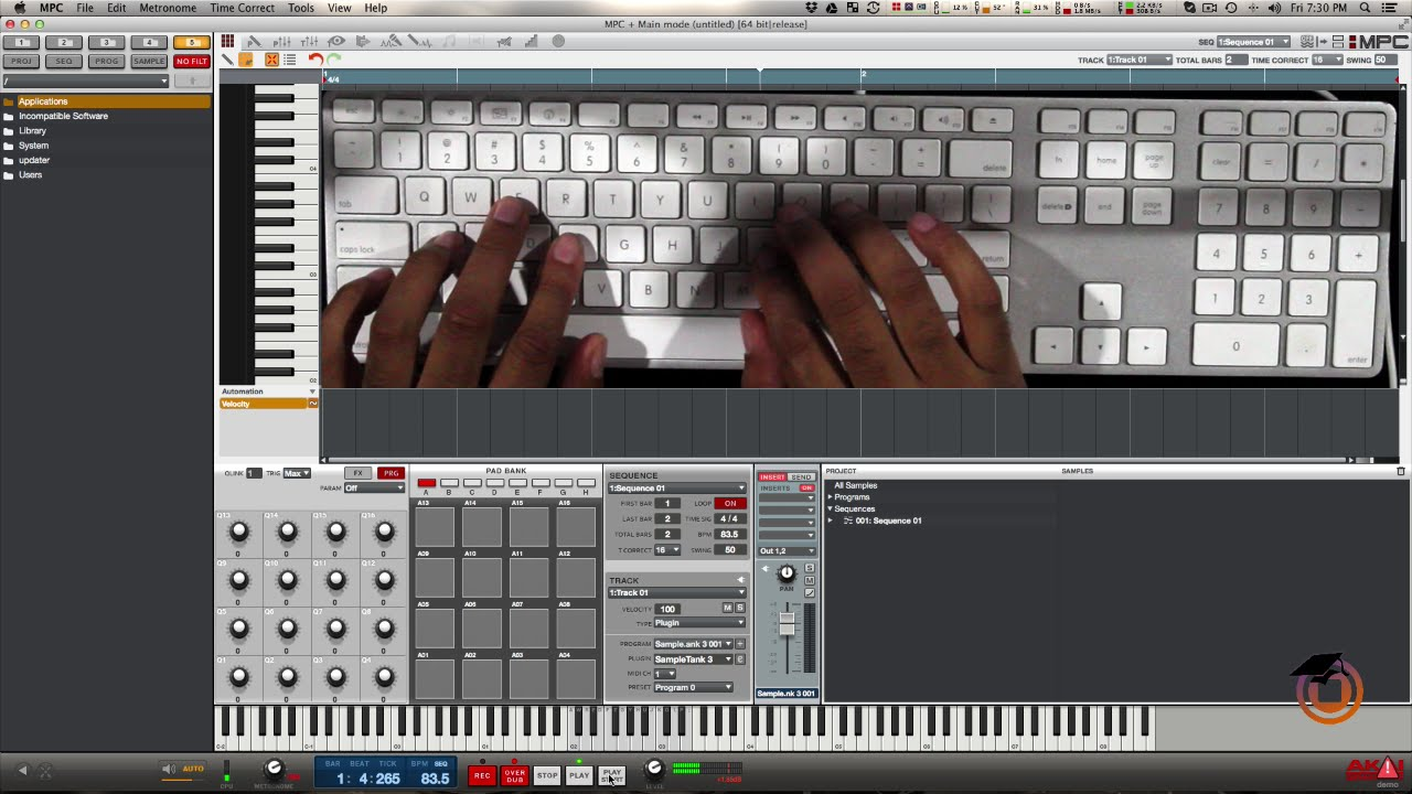 How to Make a Beat in MPC Software using Computer Keyboard...
