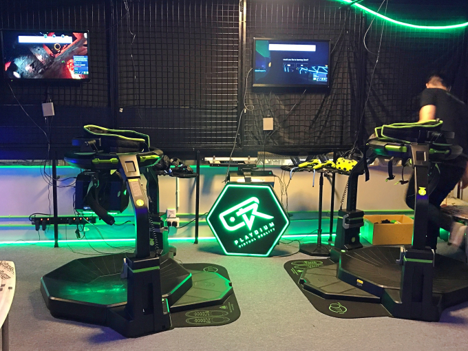 We went gaming at a VR arcade in Hong Kong...