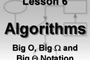 Algorithms Lesson 6: Big O, Big Omega, and Big Theta Notation...