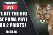 Day Trading Live - We bit the big cat PUMA pbyi for 2 points!...