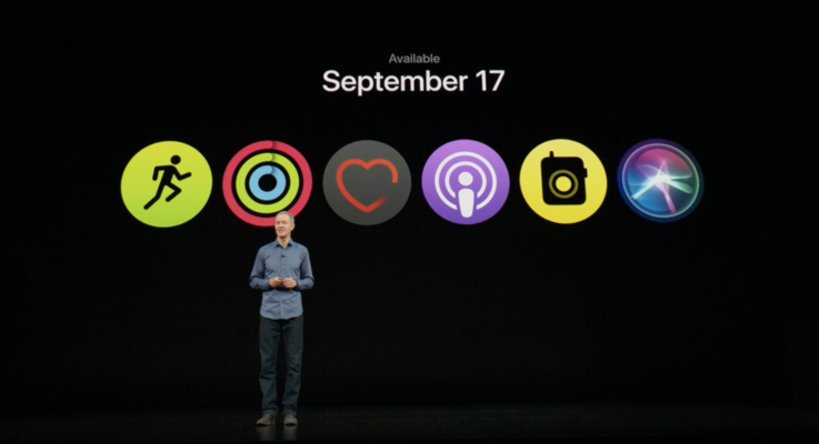 Apple watchOS 5 ships on September 17...