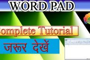 Basics computer Training document Creation in Wordpad...