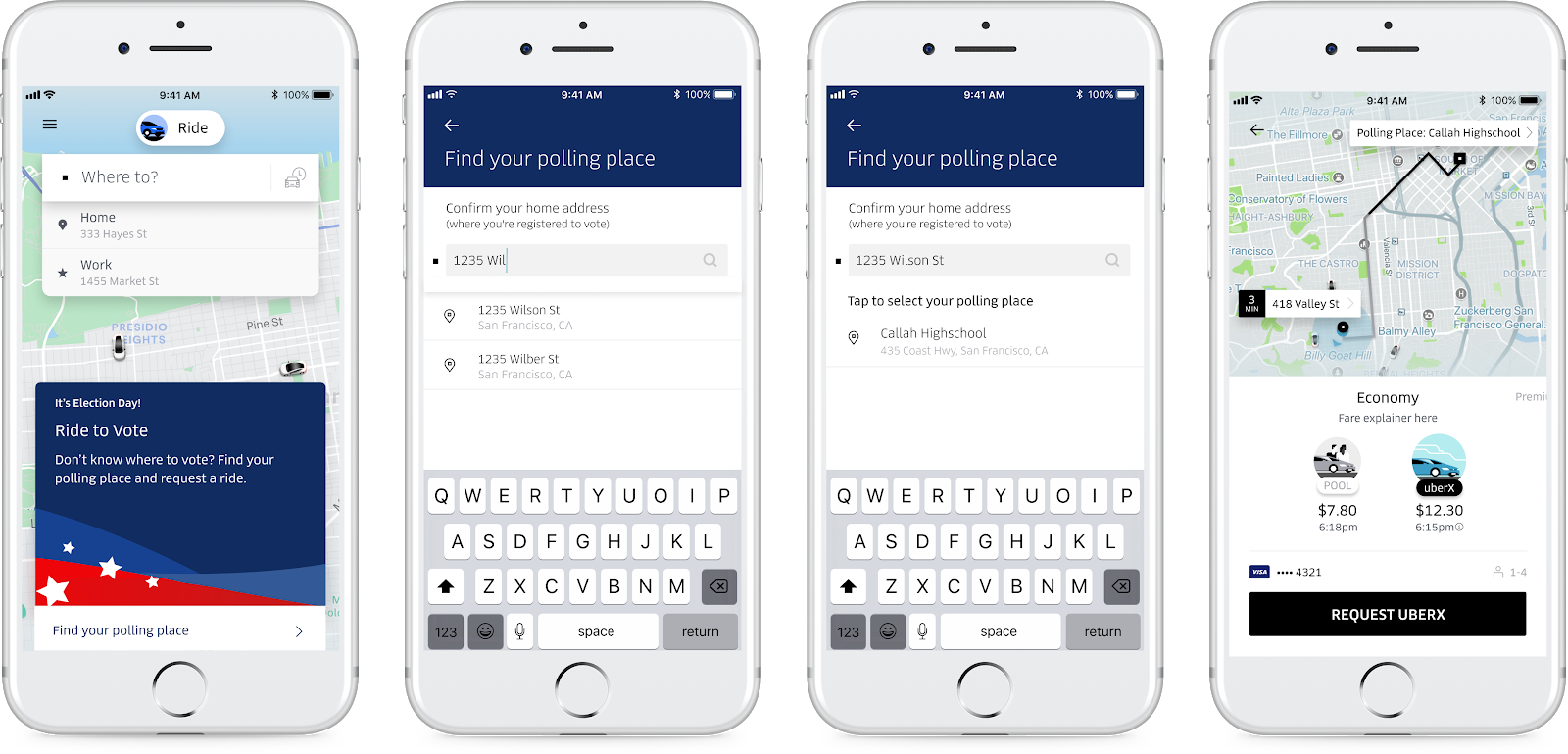 Uber will offer free rides to the polls on Election Day...