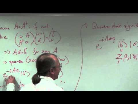 Quantum algorithm for solving linear equations...