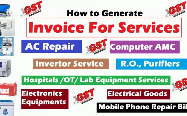 How to add Service Repair AMC Charges in Sale Bill GST ERP Traini...