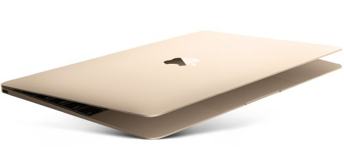 A gold Macbook