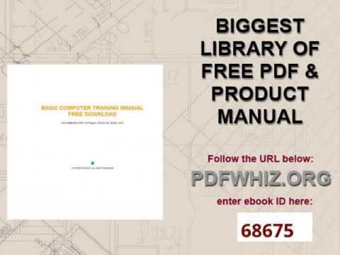 basic computer training manual free download...
