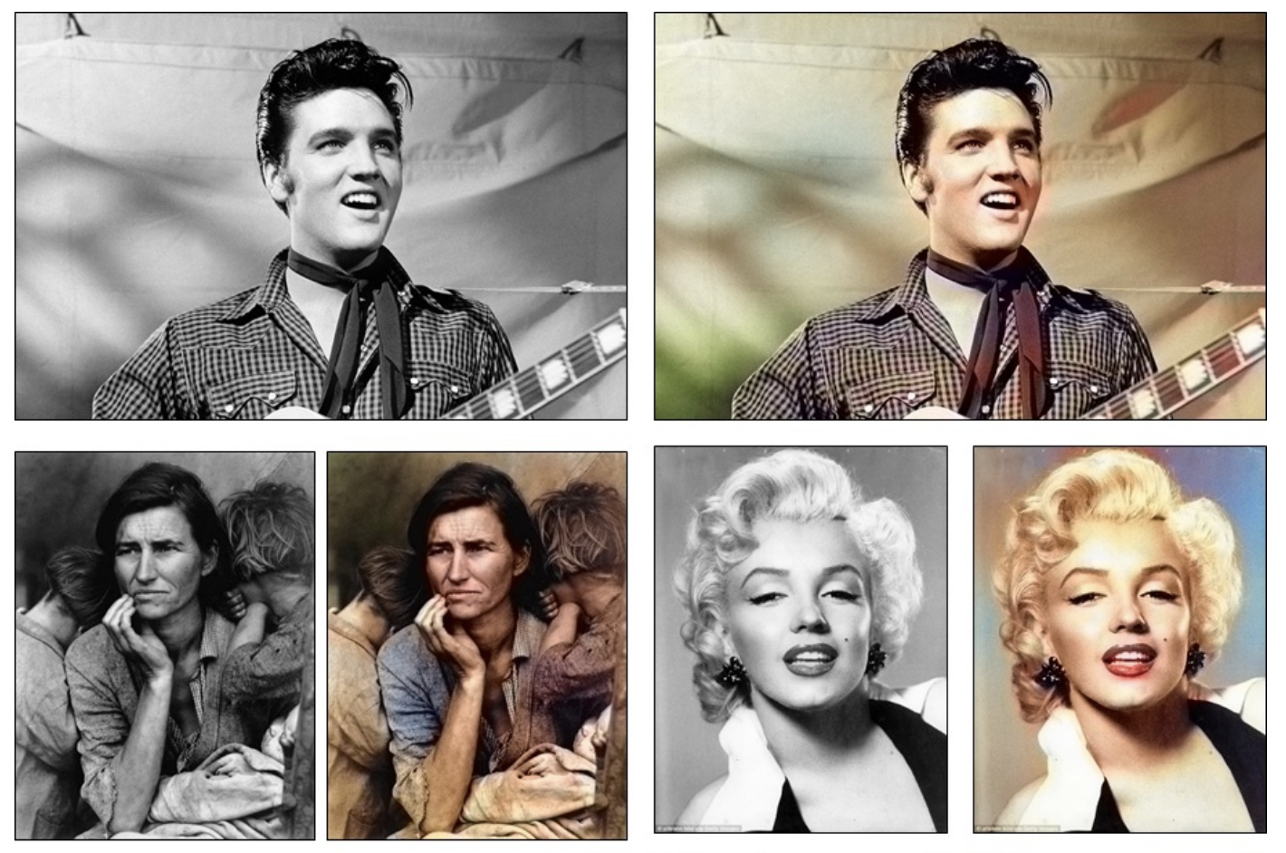 Examples of Photo Colorization