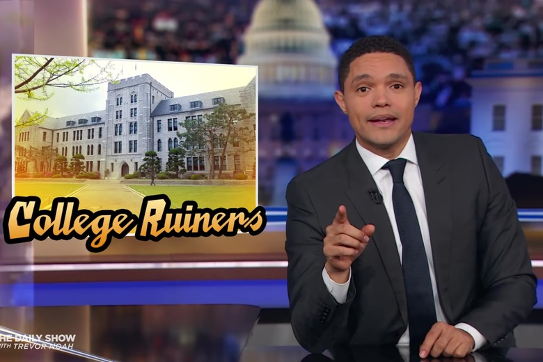 Trevor Noah Has Figured Out How to Punish the Coaches in the Coll...