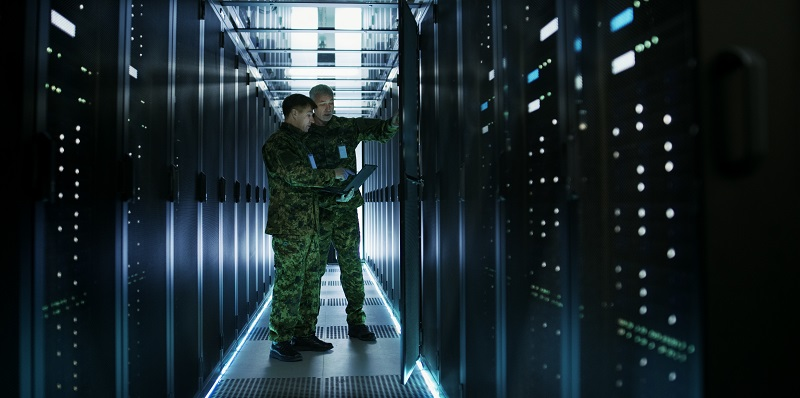 Tech-Army in server room
