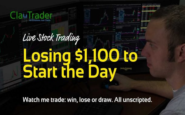 Live Day Trading - Losing $1,100 to Start the Day...