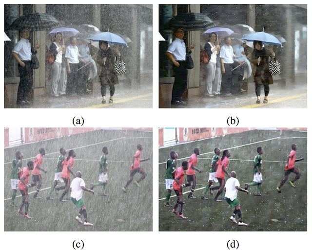Example of Using a GAN to Remove Rain from Photographs