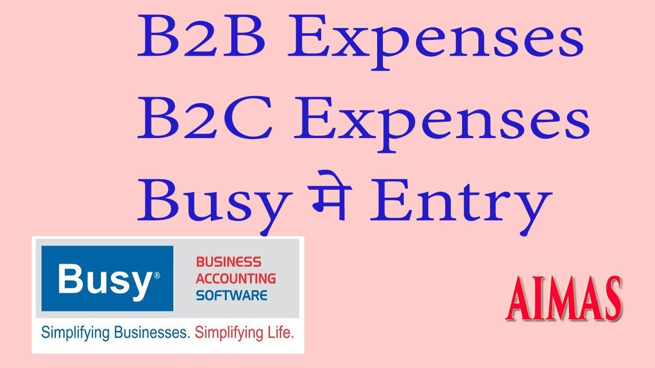 B2B B2C Expenses Computer Expenses Entry In Busy Accounting Softw...