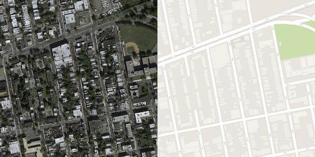 Example Image From the Validation Part of the Maps Dataset
