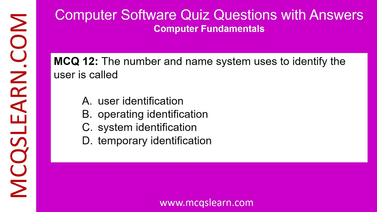 Computer Software Quiz Questions with Answers - MCQsLearn Free Vi...