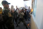 """Protesters Chanting """"Death to America"""" Storm U.S. Embassy Compoun..."""