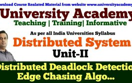 L21: Distributed Deadlock Detection | Edge Chasing Algorithm with...
