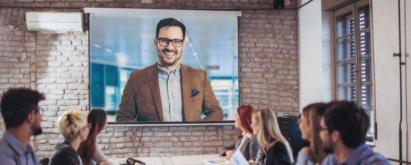 Laser projector video conference rentals