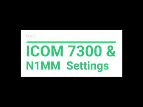 Icom 7300 N1MM Software Rig Control Settings Computer CW Transmit...