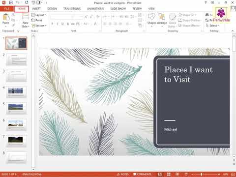 Saving The Presentation As A Template | Powerpoint | Computer Tra...