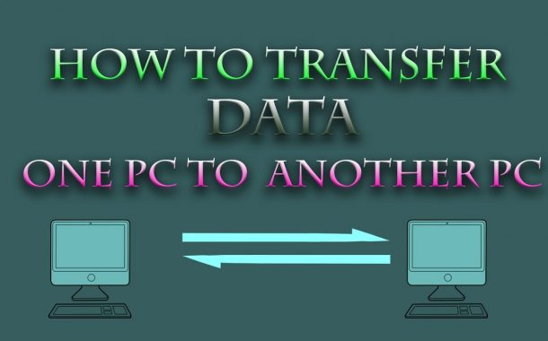 How transfer Data one pc to another pc without any software...