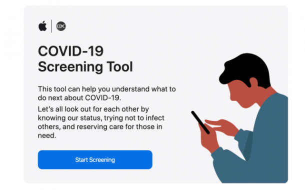 Apple launches COVID-19 screening website...