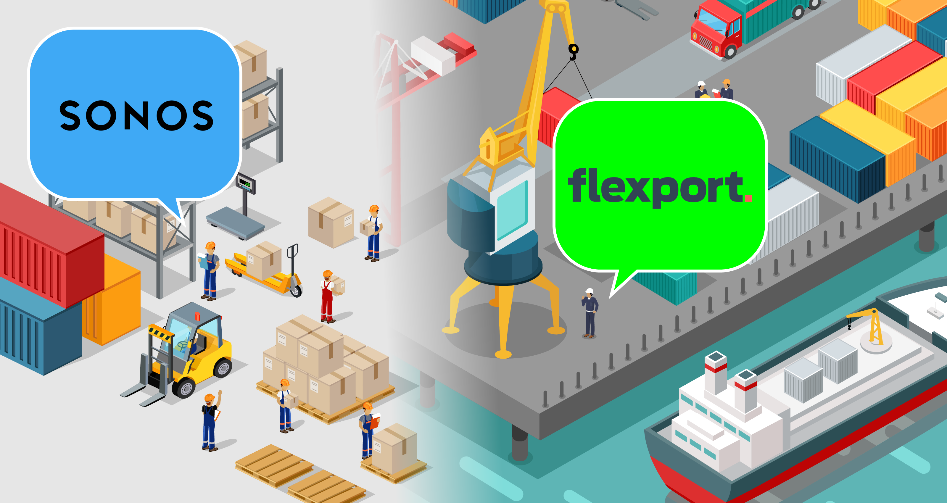 Flexport gettyimages robuart shipping factory