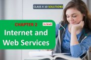 CLASS 10 X COMPUTER SCIENCE SOLUTIONS CHAPTER 2 Internet and web ...