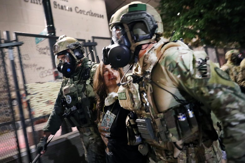 Federal police in tactical gear