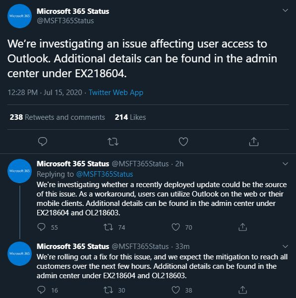 Office 365 troubleshooting