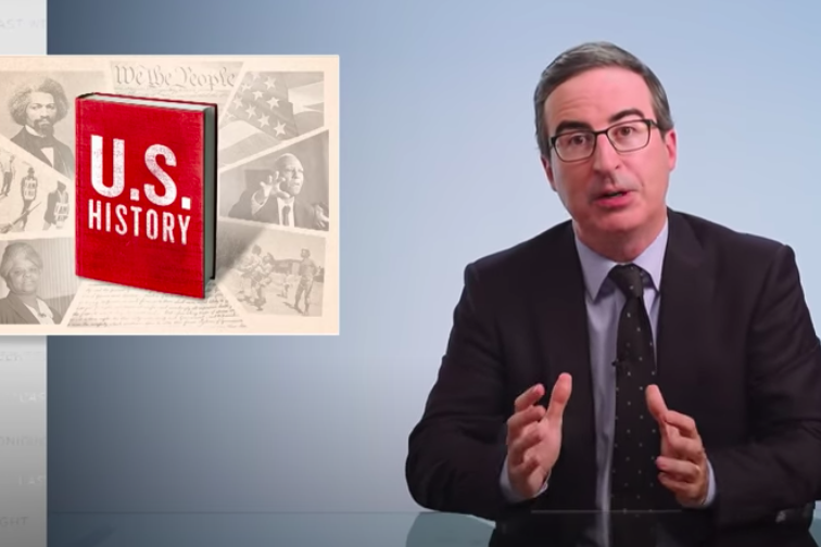 """John Oliver Examines Why U.S. """"History"""" Varies So Wildly From Sta..."""