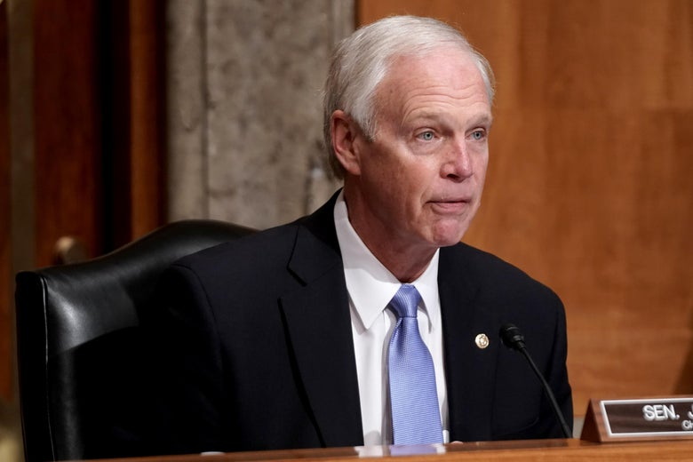 Senate Homeland Security and Governmental Affairs Committee Chairman Ron Johnson (R-WI) speaks during a hearing to discuss election security and the 2020 election process on December 16, 2020 on Capitol Hill in Washington, D.C.