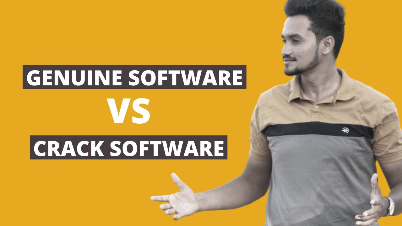 difference between genuine software and crack software || compute...