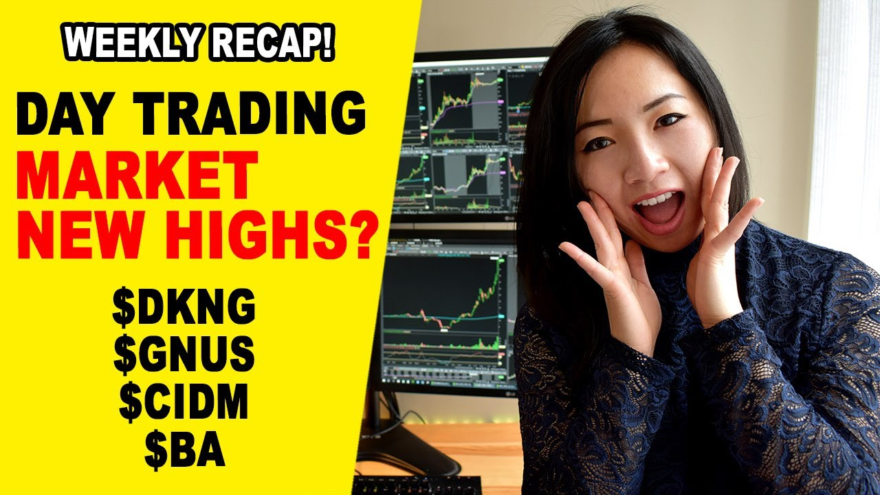 Market Back to New Highs? $DKNG $BA $GNUS $CIDM Day Trading Recap...