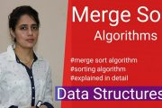 7.7 Merge Sort Algorithm | Sorting Algorithms| Merge Sort in Data...