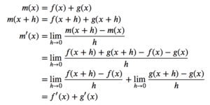 Derivative of the Sum of Two Functions