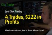Live Day Trading - 4 Trades, $222 in Profits...