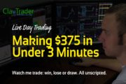 Live Day Trading - Making $375 in Under 3 Minutes...
