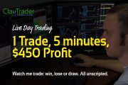 Live Day Trading - 1 Trade, 5 minutes, $450 Profit...