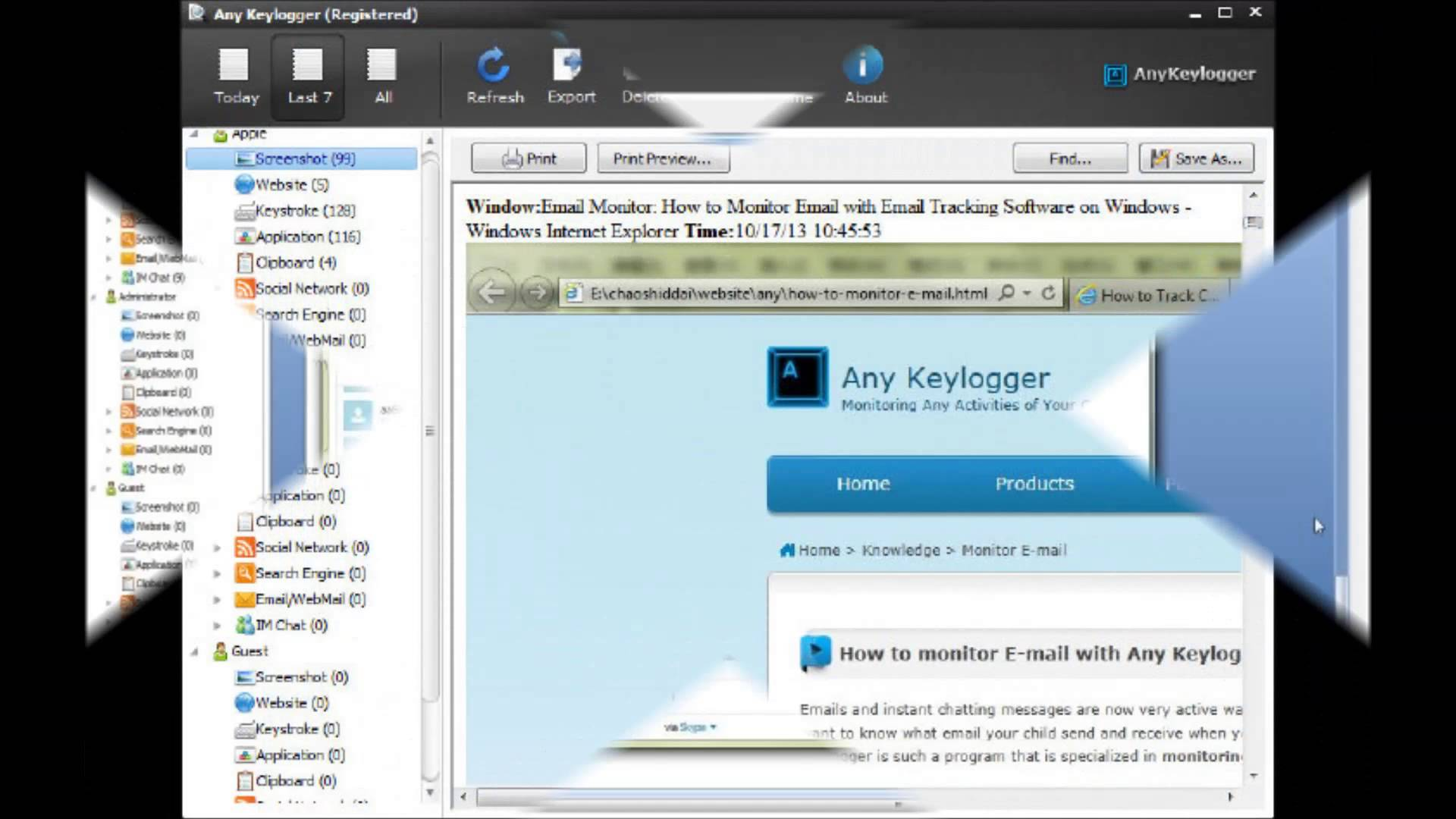 Track Any Activities on PC by Computer Tracking Software...