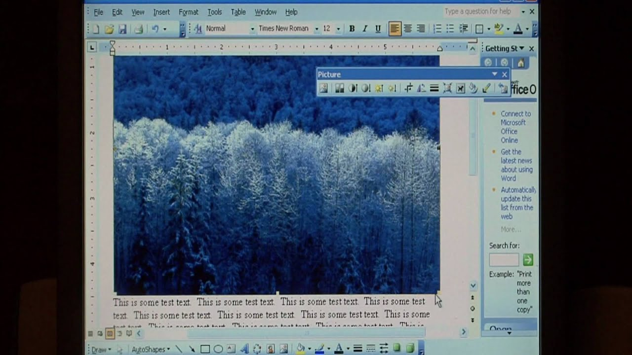 Computer Training : How to Wrap Text Around a Picture in Word 200...