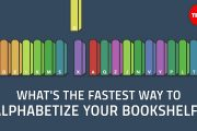 What's the fastest way to alphabetize your bookshelf? - Chand...