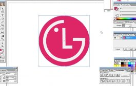 Computer Training Class - 32   How to Make LG Logo With Illustrat...