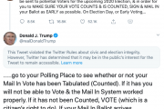 Twitter and Facebook wrestle with Trump telling Americans to vote...