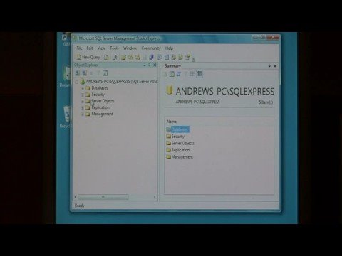 Computer Software Tips : Creating a New Database in a Microsoft S...