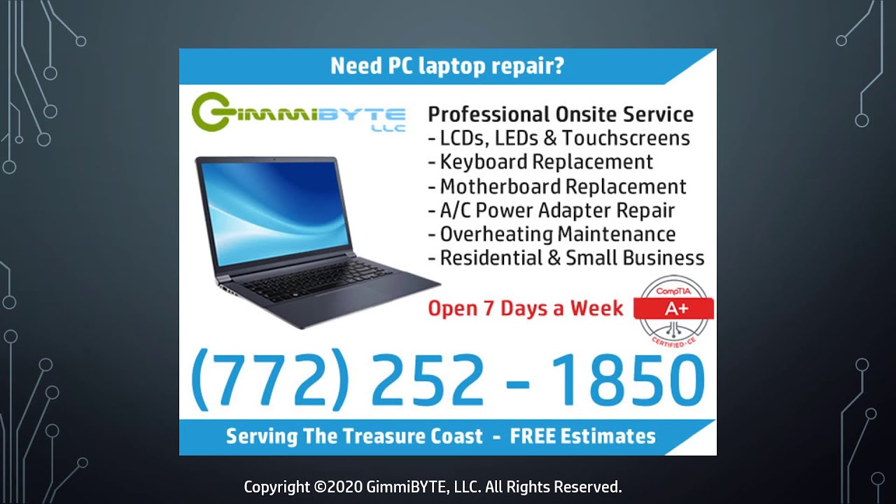 GimmiBYTE - Professional Onsite Computer Repair Services of Port ...